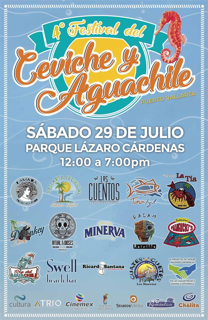 Ceviche & Aguachile Event - Saturday, July 29th - Parque Lazaro Cardenas – 12:00 pm to 7:00 pm